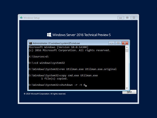 2 Ways To Reset Forgotten Windows Server 2016 Password