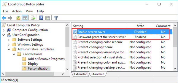 Fix: Screen Saver Settings Greyed out in Windows 10 / 8 / 7