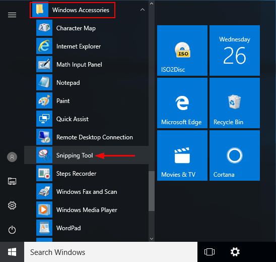 snipping software for windows 10