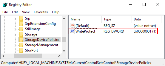 Remove Write Protection on USB/SD/Internal and External Hard Drive in Windows 10/8/7