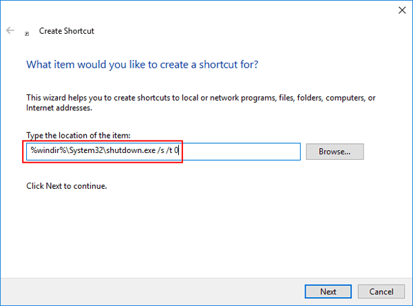 create-shutdown-shortcut