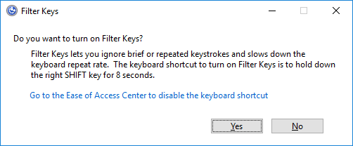 turn off sticky keys notification