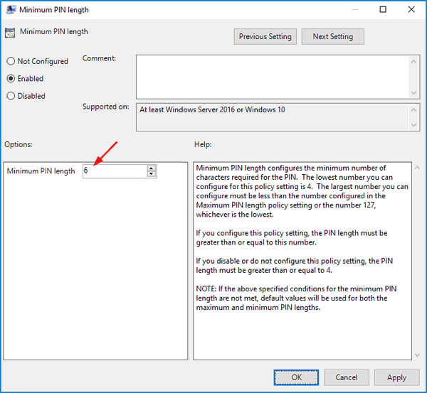 ... PIN Complexity Requirements Policy in Windows 10 | Password Recovery