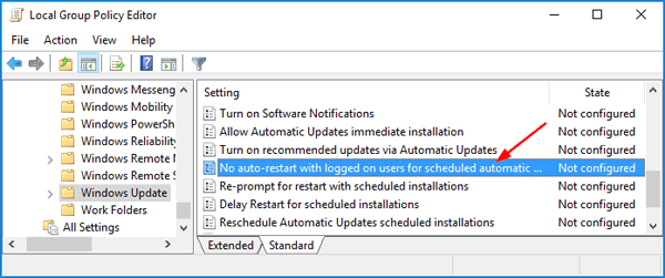 How to Disable Automatic Restart After Windows 10 Update