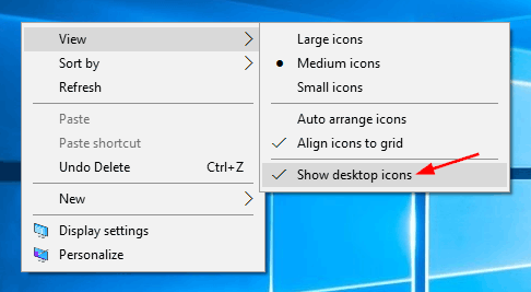 How to Restore Desktop Icons in Windows 10 | Password Recovery