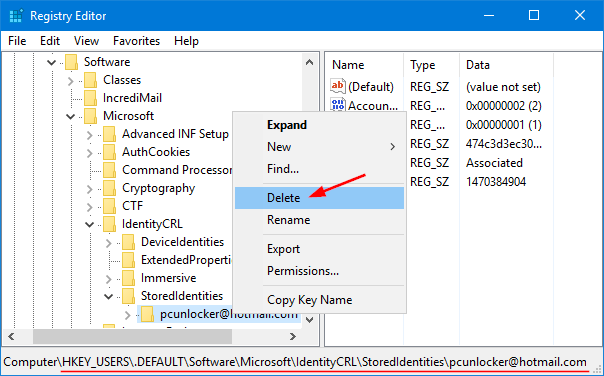 clear-cached-microsoft-account-login