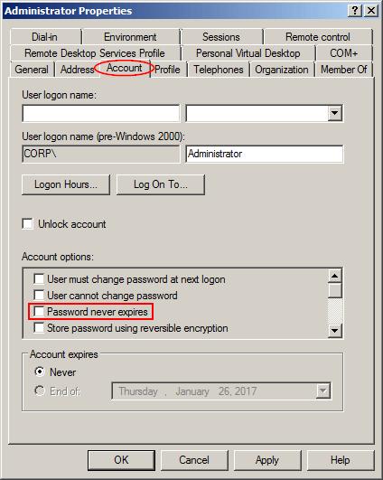 domain-password-never-expires