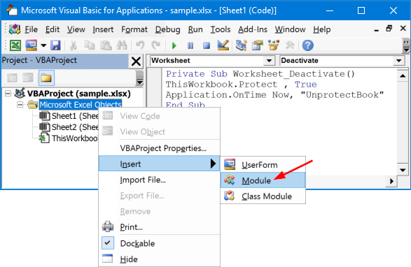 insert-excel-module