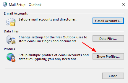 show-outlook-profiles