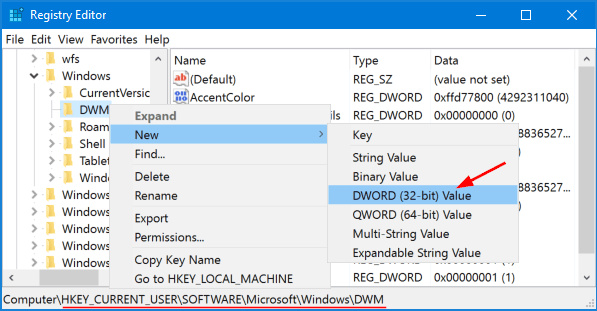 registry-new-dword