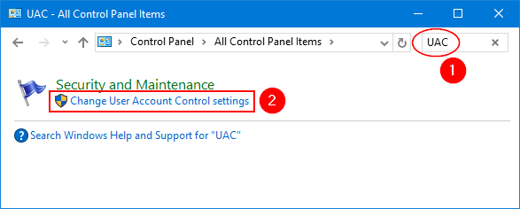 search-uac-in-control-panel