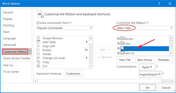 add-developer-to-ribbon