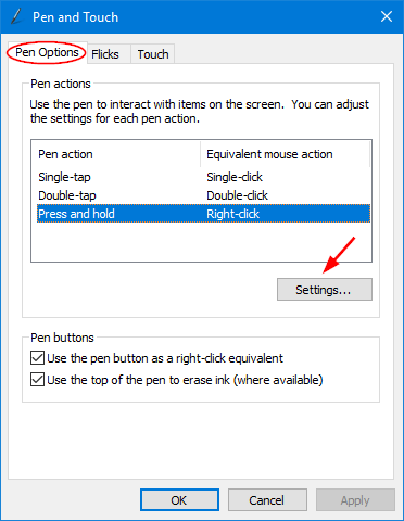 Turn on / off Press and Hold for Right-clicking in Windows 10
