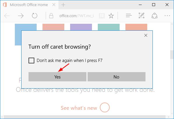 turn-off-caret-browsing