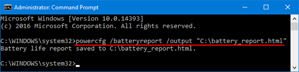 generate-battery-report