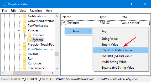 new-dword-value