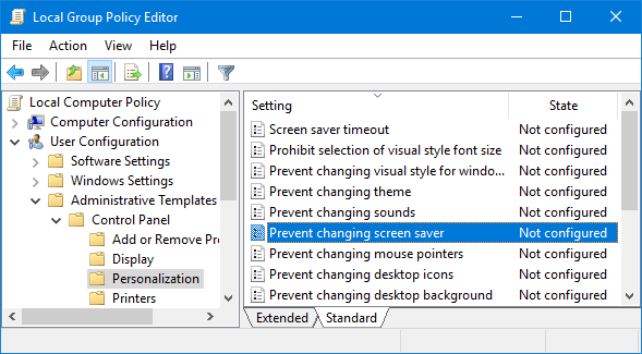 prevent-changing-screen-saver