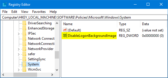 disable-logon-background-image