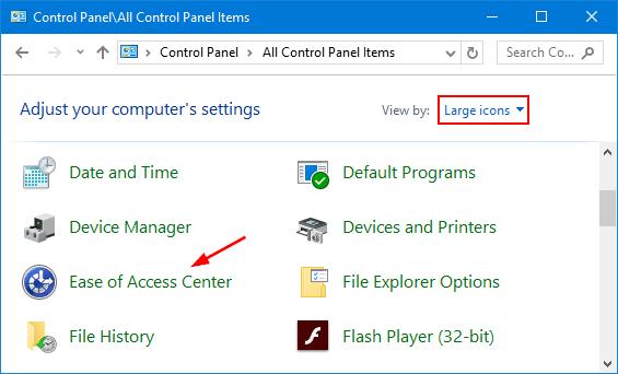ease-of-access-center