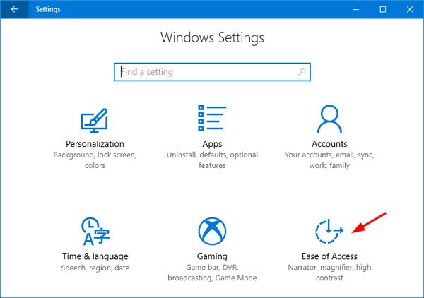 ease-of-access-settings