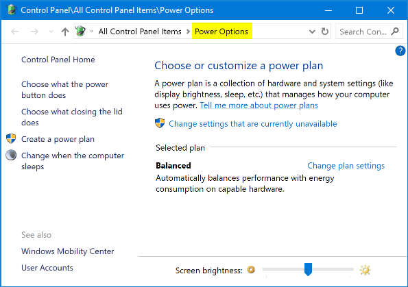 6 Ways to Open Power Options in Windows 10 | Password Recovery