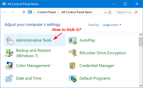 hide-control-panel-items