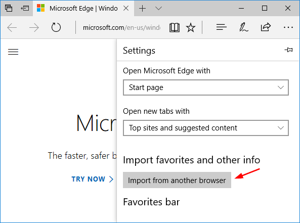 Import Chrome / Firefox / IE Bookmarks and Passwords into Microsoft Edge |  Password Recovery