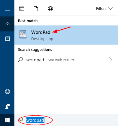 open-wordpad-via-cortana