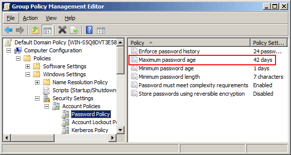 Disable Password Expiration In Windows Server | Password