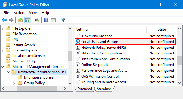 How to Disable Local Users and Groups (lusrmgr msc) in Windows 10