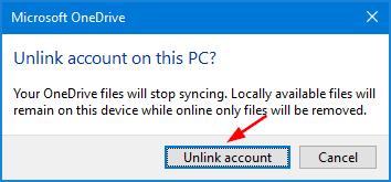 unlink-onedrive-account