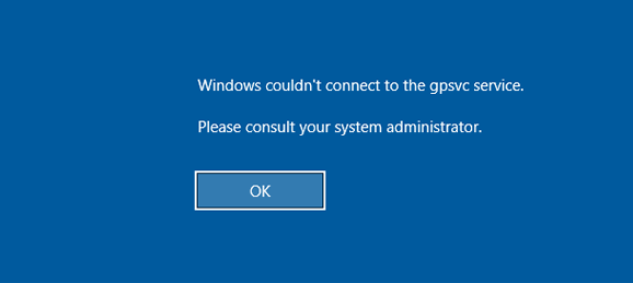 the group policy client service failed the logon windows 7