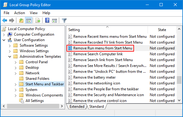 2 Ways to Disable Run Command (WIN + R) in Windows 10