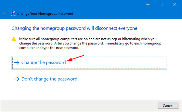 how to get homegroup password windows 10