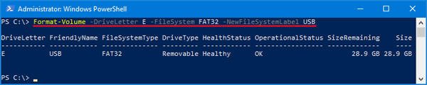 how to get drive letter from hdd label in powershell