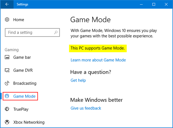 How to Turn On / Off Game Mode in Windows 10 | Password Recovery