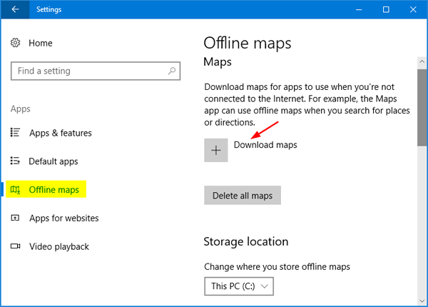 How to Download and Use Offline Maps in Windows 10 ... Download Maps For Pc on download for xbox 360, download for ipad, download for facebook, download for laptop, download web, download for iphone, download for windows, download for psp, download for apple, download ipod, download mac, download usb, download for desktop, download ps2, download playstation,