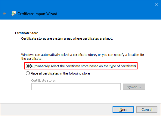 How to Import EFS Certificate into Windows 10, 8 and 7