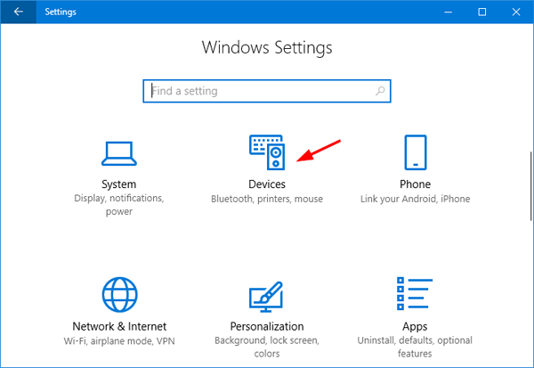 How to Open the Devices and Printers in Windows 10