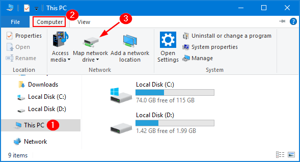 How to Map a Network Drive in Windows 10 | Pword Recovery Map Network Drive on map computer drive, map of college drive, win8 map drive, map airport drive,