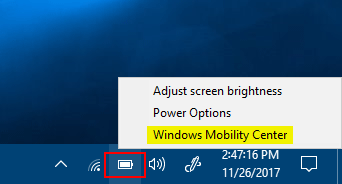 5 Ways to Open Mobility Center in Windows 10   Password Recovery