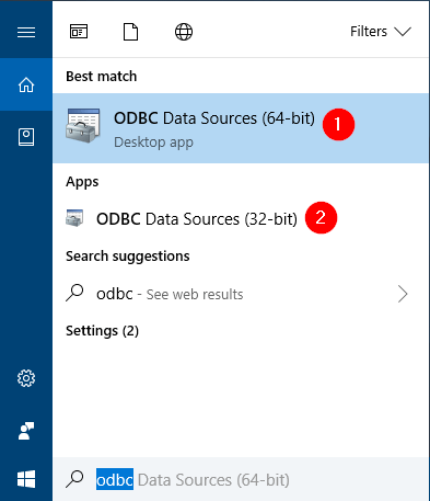 How to Open ODBC Data Source Administrator in Windows 10 | Password