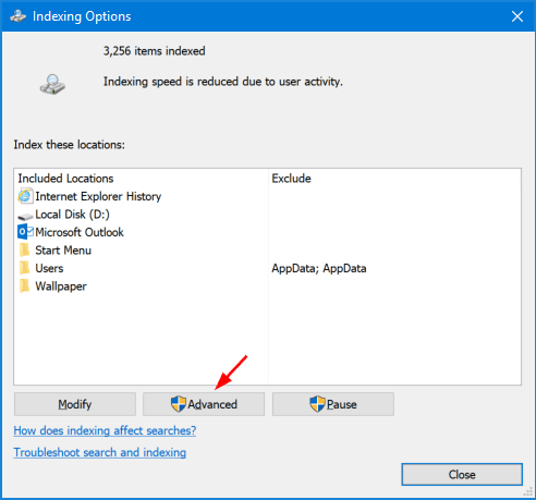 4 Ways to Open Indexing Options in Windows 10 | Password Recovery