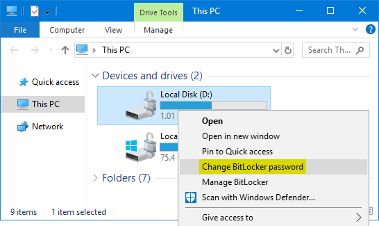change network drive credentials windows 10