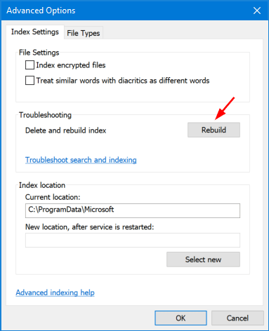 windows 10 how to hide things from search
