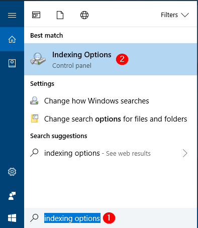 4 Ways to Open Indexing Options in Windows 10 | Password