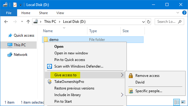 How to remove give access to context menu in windows 10 for Best r value windows