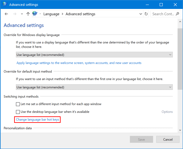 How to Change Input Language Using Keyboard Shortcut in