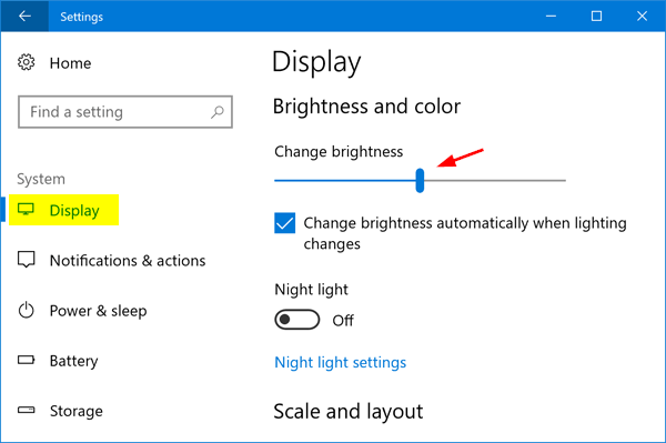 How to Adjust Screen Brightness on Windows 10 Laptop or