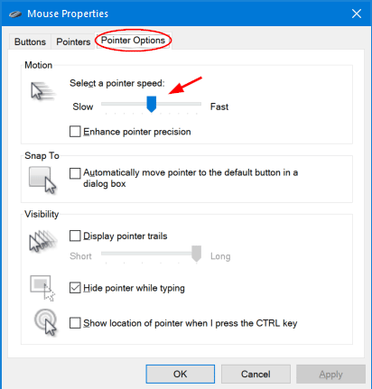 How to Change Mouse Sensitivity and Pointer Speed in Windows